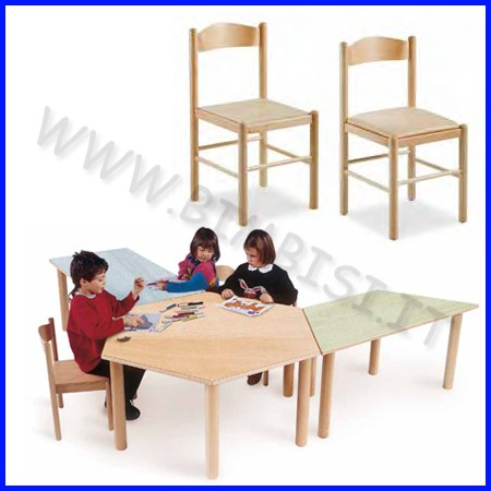 Sedia con seduta imbottita 42x42x43/80