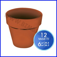 Vasetto color terracotta - set 12 pz. - misure assortite