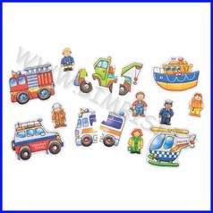 Puzzle cartone - squadra soccorso