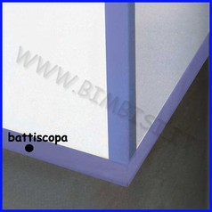 Battiscopa cm.7x100x0,8 spess 4 pz blu