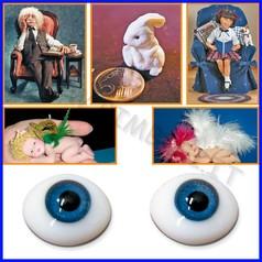 Prosculpt: occhi in vetro diam.8mm cf 2 fino ad esaurimento