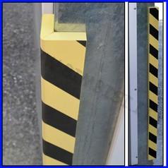 Paraspigolo eva a righe giallo/nere barra 100cm l.10cm sp.1.5cm