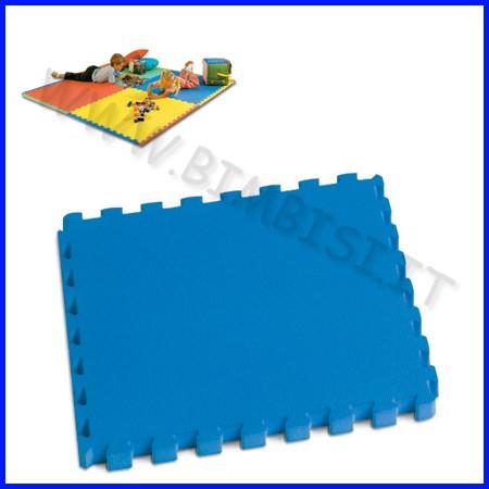 Mattonella in eva 50x50 sp.1 cm blu con bordi