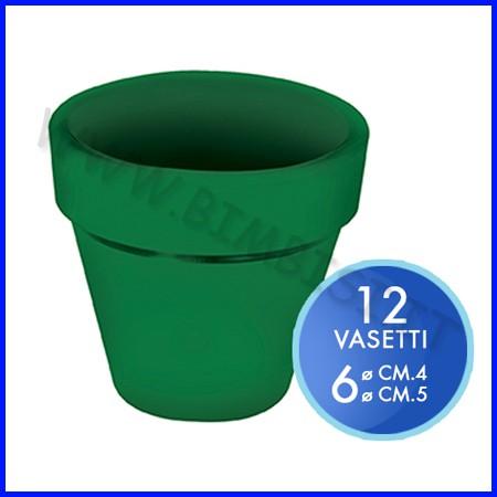 Vasetto color verde - set 12 pz. - misure assortite