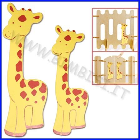 Decorazioni legno giraffa h29