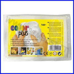 Pasta per modellare color plus bianco panetto 500gr