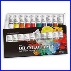 Colori a olio scatola 10 tubi ml.22 c.as