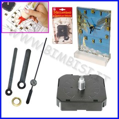 Creare orologi meccanismo con lancette asse 17 mm
