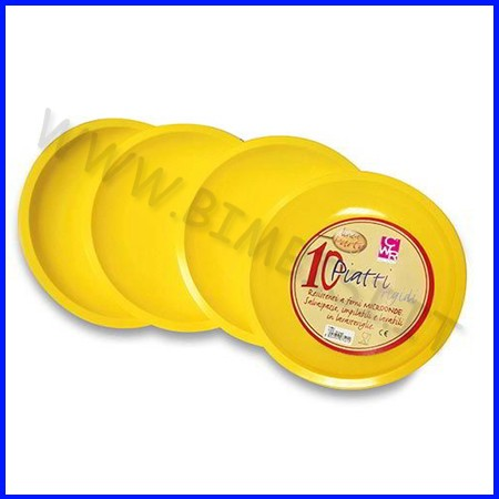 Piatti tondi gialli diam.22.5 cf.10 pz