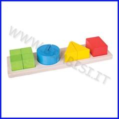 Frazioni in legno - le forme