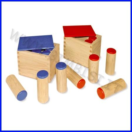 Scatole dei suoni in legno - set 2 pz.