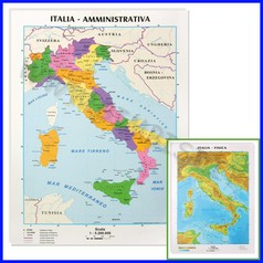 Carta geografica da banco italia 21x29.7