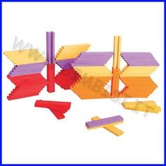 Costruzioni planks - set 100 pz. - colori tramonto fino ad esaurimento