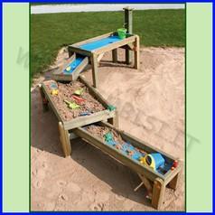 Gioco sabbia/acqua con fontana legno