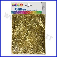 Glitter grana grossa - busta gr.80 - oro