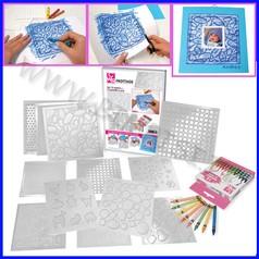 Frottage scatola 12 pz+12 pastelli cera