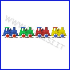 Go-go trenino locomotiva set 4 pz col.as