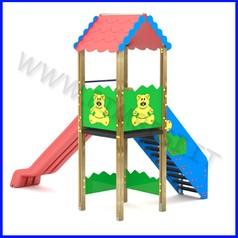 Torre h150 con tetto e scivolo