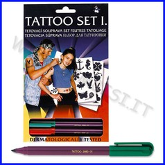 Tattoo set 4 pennarelli + accessori