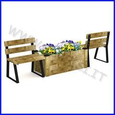Panchina modello torino con fioriera