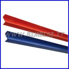 Rifinitura a Z rosso barra 204 cm per protezioni murali sp.2 cm