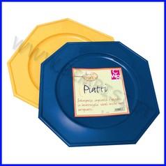 Piatti esagonali blu conf da 4 fino ad esaurimento