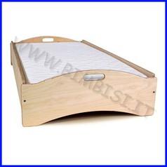 Lettino impilabile color legno smontato cm.126x66x30 linea simply