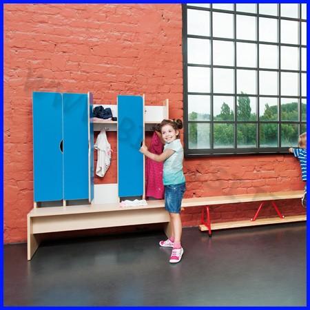 Spogliatoio legno 5 posti cm.113,5x44,5x 130h