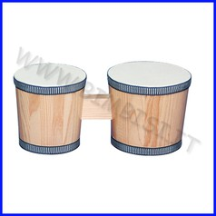 Strumenti musicali bongo in legno