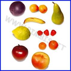 Alimenti in plastica frutta set 13 pz