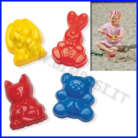 Formine animali in plastica - set 4 pz.