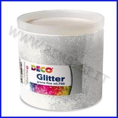 Glitter grana fine barattolo gr700 argento