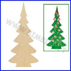 Albero in legno abete singolo non verni- ciato cm 77x148