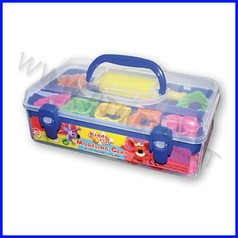 Kiddy clay - plastilina gr.550 - 7 colori + accessori - valigetta
