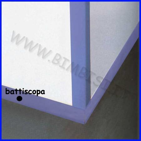 Battiscopa cm.7x100x0,8 spess 4 pz blu