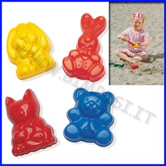 Formine animali in plastica - set 4 pz.