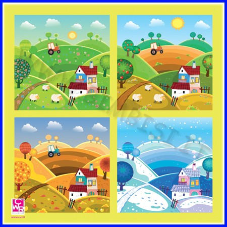 Nuvola - tappeto cm.100x100 - 4 stagioni