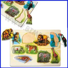Puzzle legno animali selvaggi fino ad esaurimento