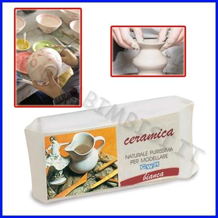 Ceramica bianca panetto kg.1
