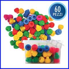 Funghi colorati - bauletto 60 pezzi