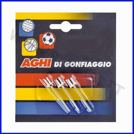 Aghi in metallo per pompa palloni volley blister 3 pz