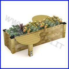 Panchina modello olbia con fioriera