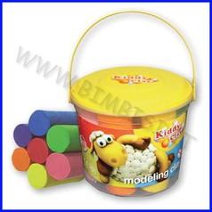 Kiddy clay - plastilina gr.500 - 7 colori - secchio