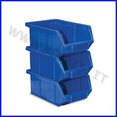Contenitore archivio con porta etich cm.16x25x12,9 - set 3 pz. - blu