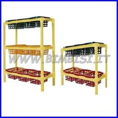 Scaffale portacestelli c/6 cestelli cm 100x37x70h