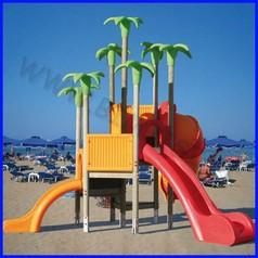 Oasis torre spirale legno rampa/scivolo h84 + h144 + tunnel h168