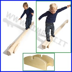 Attrezzi ginnici legno asse equilibrio