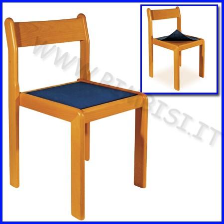 Sedia adulti in legno cm.46 h naturale