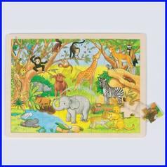Puzzle legno/cartone cm.40x30 - africa (48 pz.)