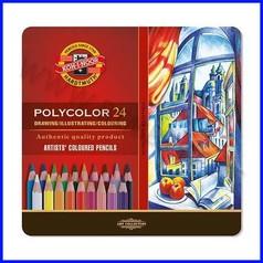 Matite per artisti polycolor scat. metal - 24 pz. ass